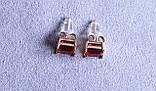 Серьги фирмы Xuping с красным фианитом (color ХР1016, 7мм Т0410 красные), фото 2
