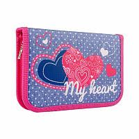 Пенал Smart My heart 532784 20,5х13х3,6 см синий