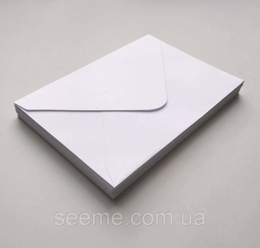 Конверт 184x140 мм, колір білий