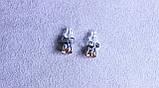 Сережки - гвоздики фірми Xuping (Rhodium color ХР1016, 6мм Т0280 жовті), фото 2