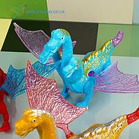 Механическая игрушка, пластиковая светящиеся ходилка Горыныч, фото 2