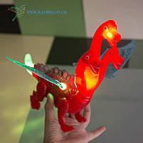 Механическая игрушка, пластиковая светящиеся ходилка Горыныч, фото 3