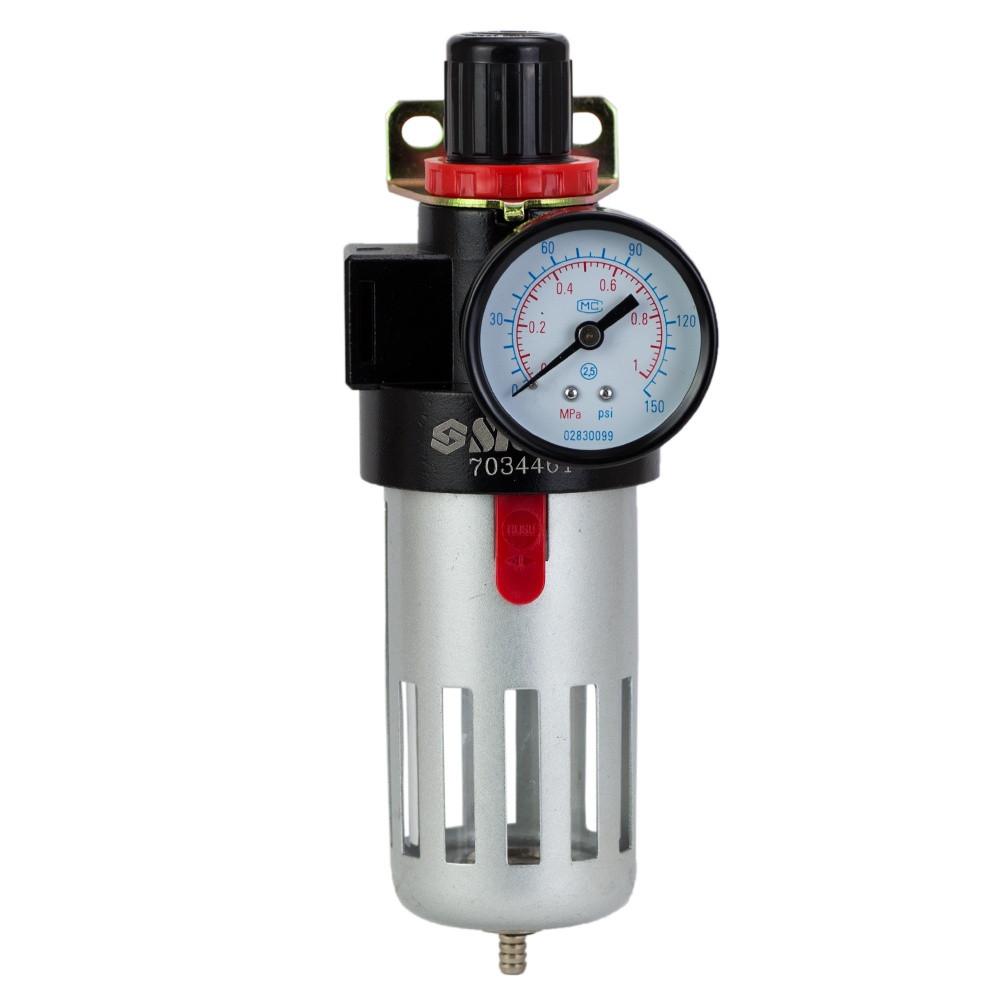 Фильтр-влагоотделитель с редуктором и манометром 1200л/мин 1/2 Sigma 7034461