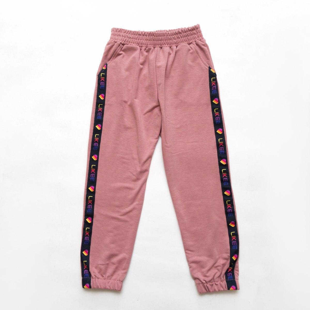 Штаны спортивные укороченные для девочки SmileTime Likee, лиловый
