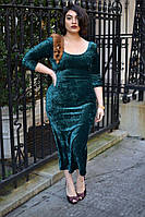Красивое  платье мрамор велюр, бархат, для пышных форм размер 42-74+ батал, большой размер, фото 1