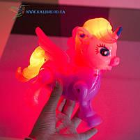 Светящиеся игрушка ходилка Единорог, фото 2