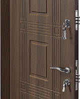 Двери входные металические Министерство дверей 860*2050 левая ПО-02 орех белоцерковский