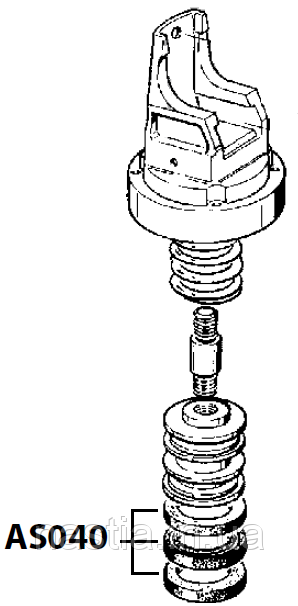 AS040 Гумовий ущільнювач у пост(на механічну групу), 51х41х8mm, Astoria