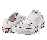 Кеды женские Converse All Star Chuck Taylor White Low M7652 белые Низкие унисекс 44, 44