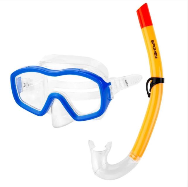 Маска для плавания детская Spokey Bombi Boy Бело-синяя (928195)