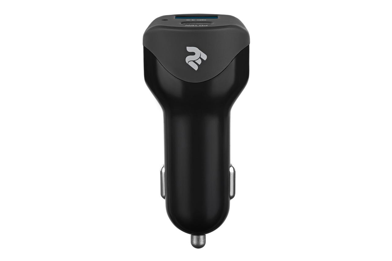 Автомобильное зарядное устройство в прикуриватель 2Е 2xUSB 36W Быстрая зарядка 3.0 Черный (2E-ACR36WPDQC)