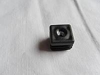 Заглушка пластиковая 20*20 мм внутреняя для профильной трубы с резьбой М6, фото 1