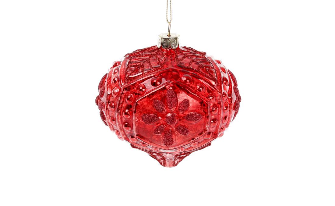 Елочное украшение, 10см, цвет - красный гренадин