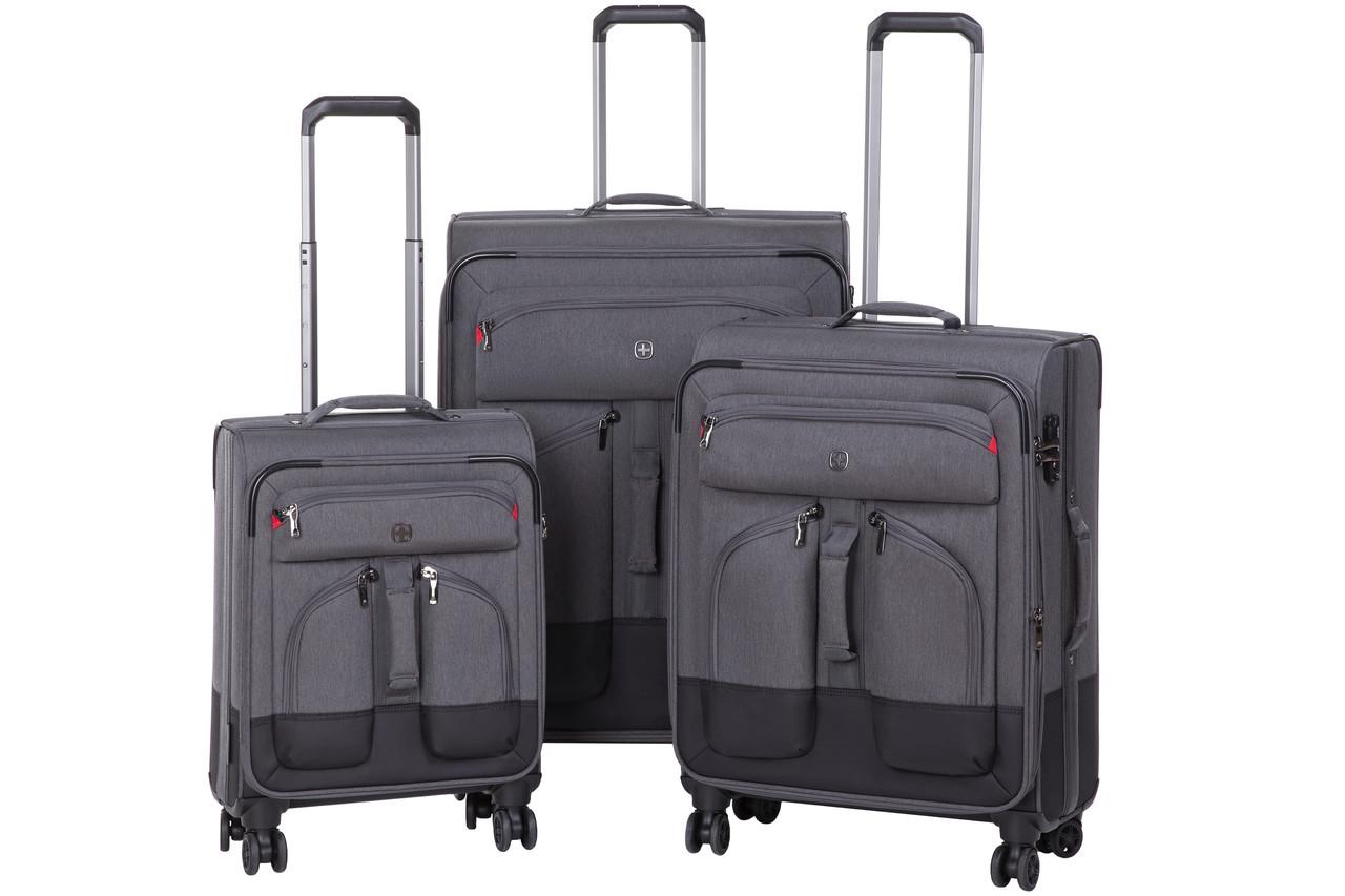 Набір текстильних валіз Wenger Deputy Set 3 шт. Сірий/ Чорний (604364)