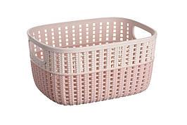 Корзинка плетеная Ardesto Sweet Home 3 л 235x176x120 мм Розовый (AR1730BP)