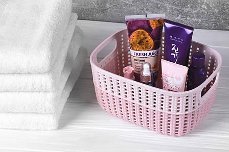 Корзинка плетеная Ardesto Sweet Home 3 л 235x176x120 мм Розовый (AR1730BP), фото 2