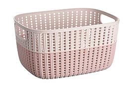 Корзинка плетеная Ardesto Sweet Home 6.8 л 286x215x150 мм Розовый (AR1768BP)
