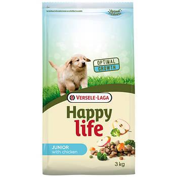 Сухой корм Happy Life Junior with Chicken ХЕППИ ЛАЙФ ДЖУНИОР для щенков всех пород, 3 кг