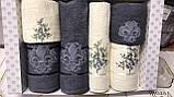 Набор люксовых махровых полотенец  6 штук в подарочной упаковке Турция, фото 3