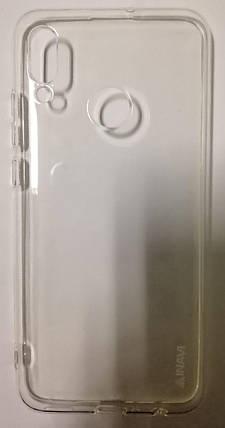 Силікон Huawei P Smart 2019 white 0.7 mm Inavi, фото 2