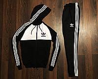 Спортивный мужской костюм Adidas Черно-Белый