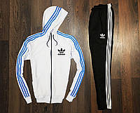 Спортивный мужской костюм Adidas Бело-Голубой