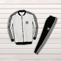Спортивный мужской костюм Adidas Бело-Черный