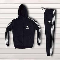Спортивный мужской костюм Adidas Черный