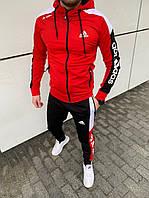 Спортивный костюм мужской Adidas Red - Адидас Красный