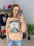 Женский свитшот свободный с рисунком 3304848, фото 2
