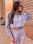 Женский спортивный костюм с укороченной кофтой на резинке и штанами на манжетах 36051040, фото 3