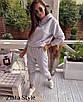 Женский теплый костюм Худи с капюшоном и штаны на высокой посадкой, фото 3