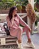 Женский теплый костюм Худи с капюшоном и штаны на высокой посадкой, фото 2