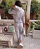 Женский теплый костюм Худи с капюшоном и штаны на высокой посадкой, фото 5