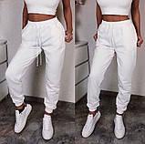 Спортивные женские штаны на резинке с манжетами 5212506, фото 2
