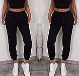 Спортивные женские штаны на резинке с манжетами 5212506, фото 3