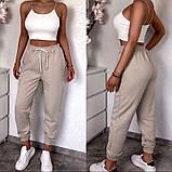 Спортивные женские штаны на резинке с манжетами 5212506, фото 5