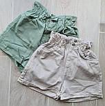 Женские летние коттоновые шорты на резинке 792629, фото 4