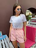 Женские летние коттоновые шорты на резинке 792629, фото 6