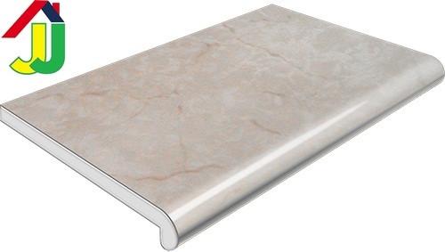 Подоконник Plastolit Мрамор Серый Глянец 100 мм влагостойкий, устойчивый к царапинам, для окон