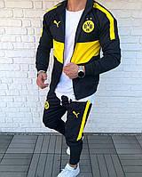 Мужской спортивный костюм Боруссия Дортмунд черно-желтый (реплика)