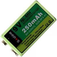 Аккумулятор никель-металлогидридный Ni-MH Крона (6F22) Soshine 8.4V (250mAh)