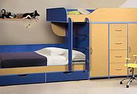 Детская двухъярусная кровать со шкафом и комодом А8 Merabel
