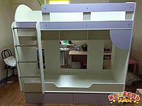 Детская двухъярусная кровать с ящиками А10 Merabel