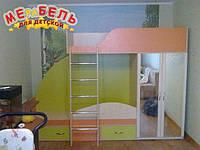 Детская двухъярусная кровать со шкафом А4 Merabel