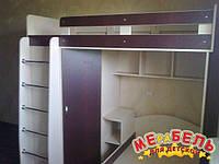 Детская двухъярусная кровать с угловым шкафом А3 Merabel