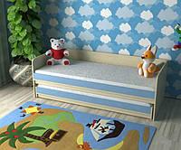 Детская двухъярусная выдвижная кровать-комод КК2 Merabel