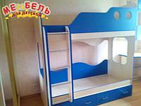 """Детская двухъярусная кровать """"Волна"""" А2 Merabel"""