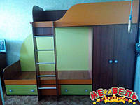 Детская двухъярусная кровать со шкафом А5 Merabel