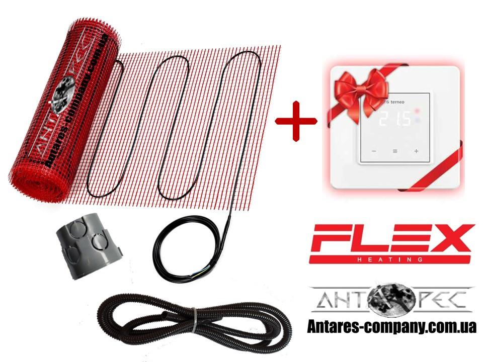 Мат для обогрева FLEX EHM - 175 / 1м / 0.5м2 / 87.5 Вт в комплекте с сенсорным Terneo S